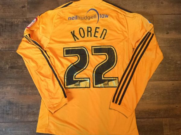 2010 2011 Hull City Koren  Match Worn Home Poppy L/s Football Shirt